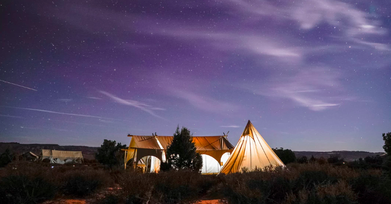 Why go glamping outdoors in a tent