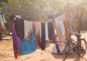 Clothes drying outside for RV washer dryer combo