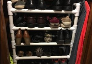 RV Shoe Storage PVC