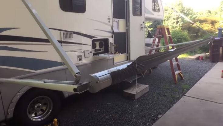 How to replace the awning on an RV